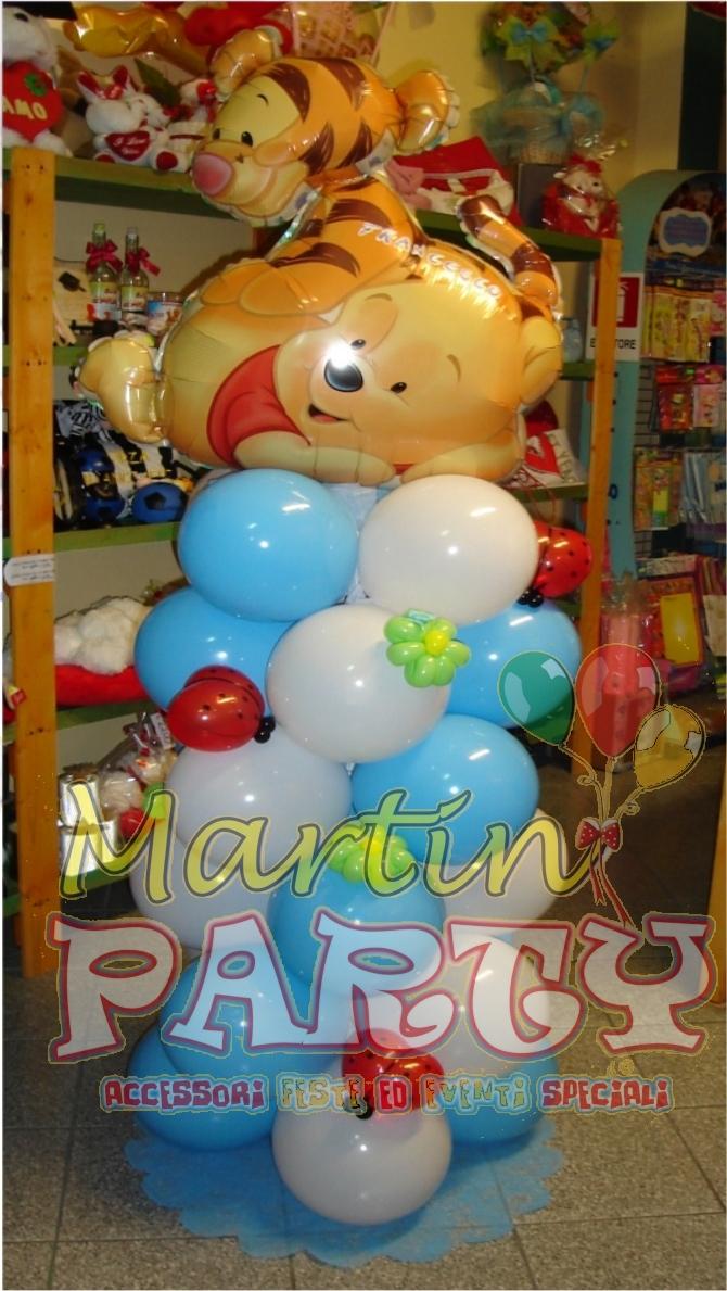 Martin party palloncini allestimenti e decorazioni per feste gadget balloonart - Composizione palloncini da tavolo ...