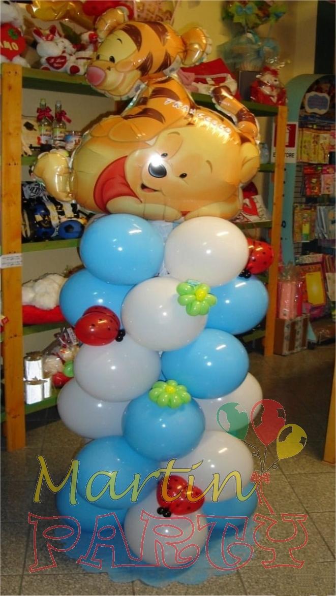 Martin party palloncini allestimenti e decorazioni per - Addobbi tavolo battesimo ...
